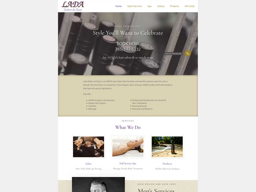 Lada Salon & Spa website rebuild