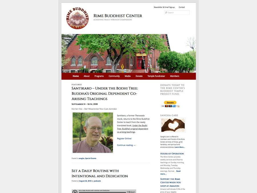Rime Buddhist Center website