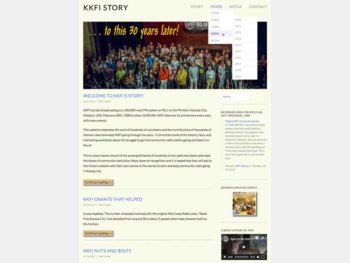 front page of kkfistory.org website